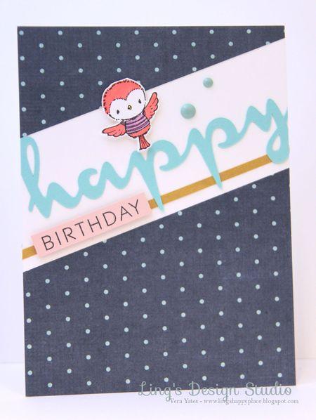 Vera Yates - happy birthday Robin Card
