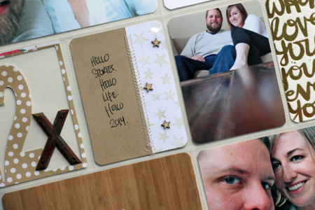 Kelly Xenos - Project Life 2014 - Opening Page close up