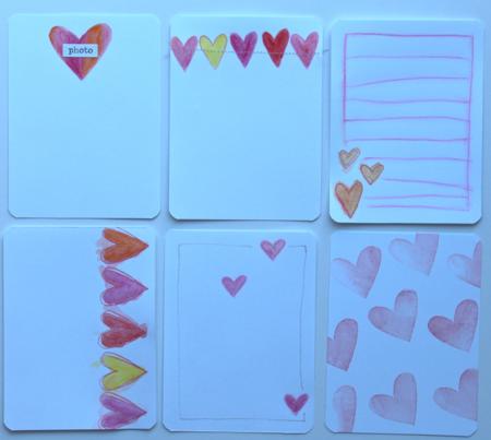 Kelly Xenos - doodle heart cards