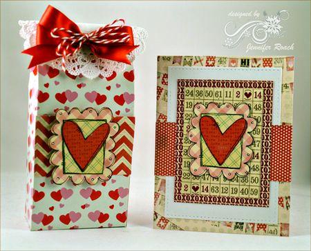 Jen Roach - Valentine card and treat box set