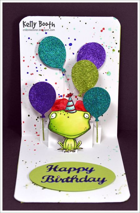 Kelly Booth - Freckles Balloon Happy Birthday Card