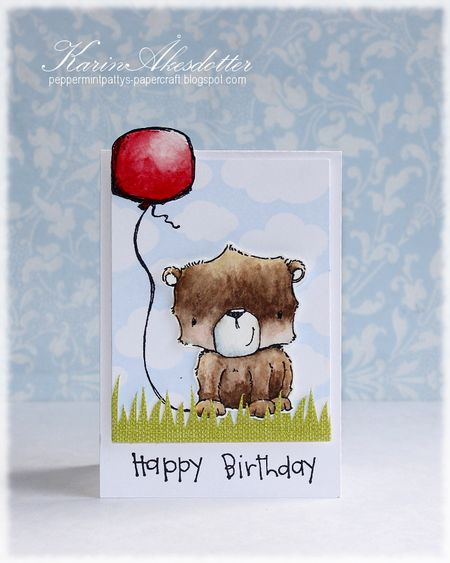 Karin Akesdotter - Blueberry Happy Birthday Card