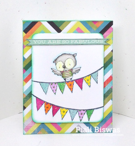 Piali Biswas - Ruby and Bunting Card