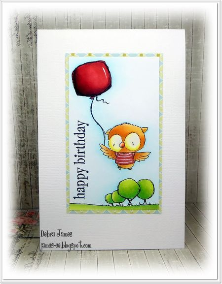 Debra James - Ruby Balloon Card