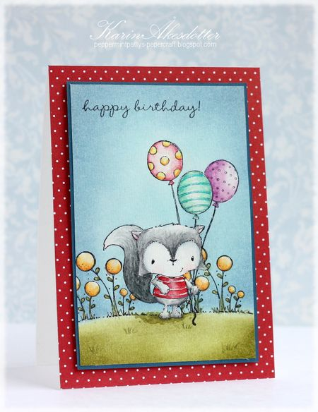 Karin Akesdotter - Happy Birthday Charlie Card - side