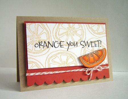 Alice Wertz - Orange You Sweet Card