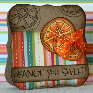 Jenn Biederman - orange you sweet card