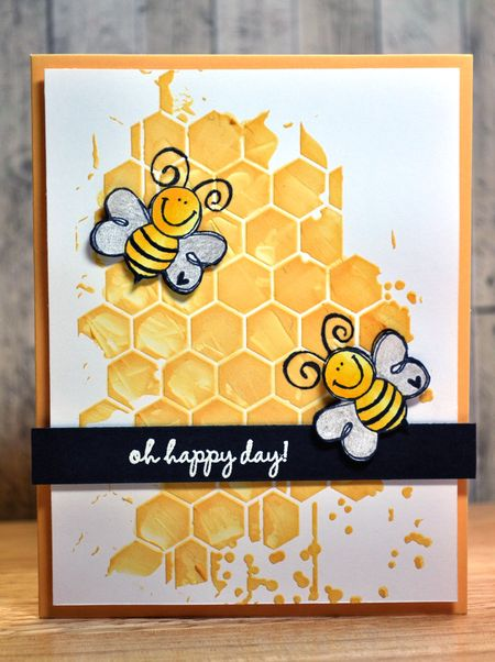 Judith Gowdy - Oh Happy Day Bee Card