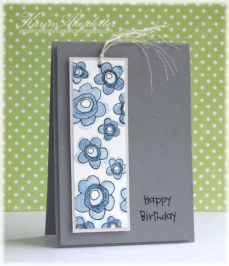 Karin Akesdotter - Happy Birthday Doodle Flower Bookmark Card