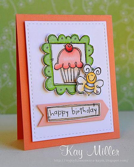 Kay Miller - Doodle Cupcake Card