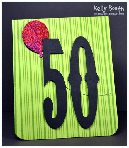 Kelly Booth - Freckles Balloon Birthday Card - front
