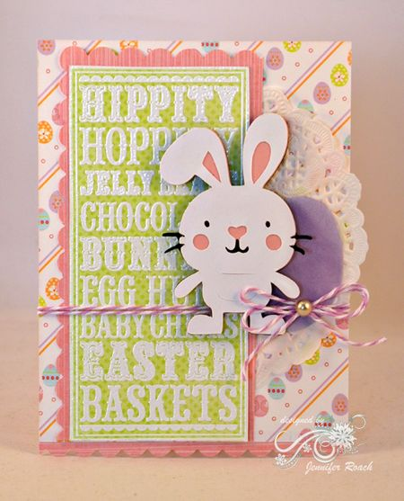 Jen Roach - Easter noteblock card with die cuts