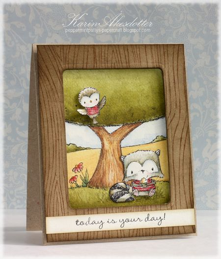 Karin Akesdotter - Perfect Spot Joey and Robin card - side