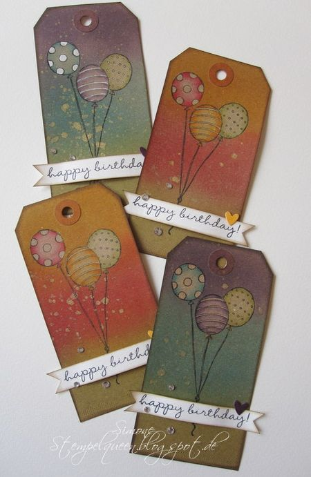Simone Schwagler - Balloon Birthday Tags