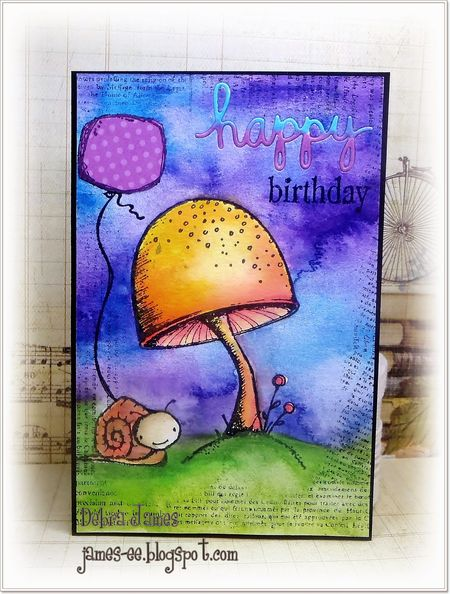 Debra James - Tucker and Toadstool Card