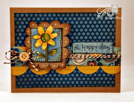 Jen Roach - Steph A flower card