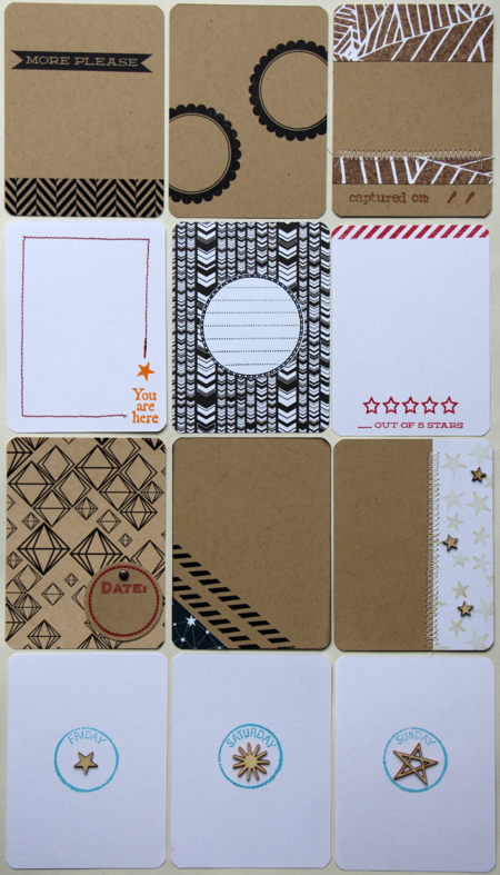 Kelly Xenos - Project Life 2014 - Pre-stamped cards