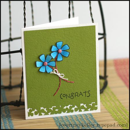 Courtney Kelley - Congrats Flower Card