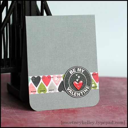 Courtney Kelley - Be My Valentine Logo Heart Card