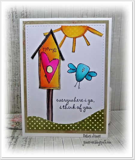Debra James - Bird House Card