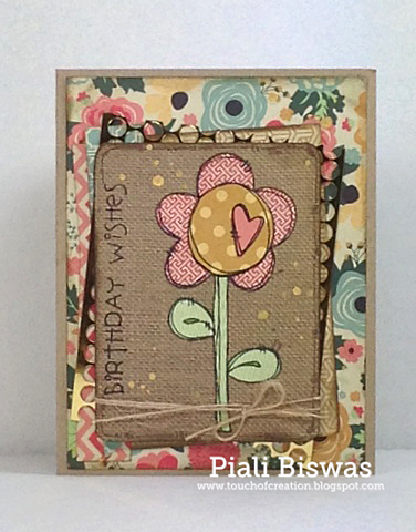 Piali Biswas - Heart Flower Card