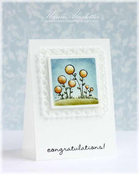 Karin Akesdotter - Blooms Congratulations card - side