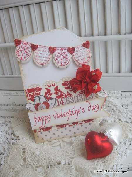 Cherry Nelson - Happy Valentine's Scallops Card