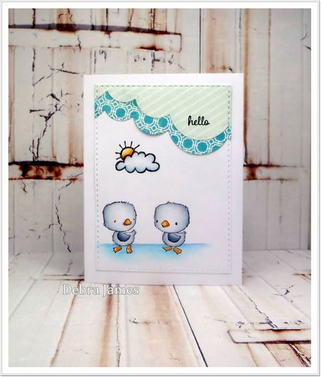 Debra James - True & Blue Card