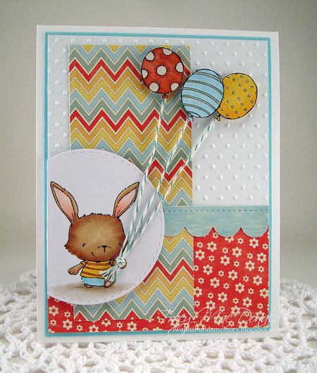 Tracy MacDonald - Willa and Balloons Card