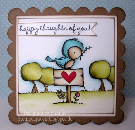 Simone Schwagler - Peep Sign Card