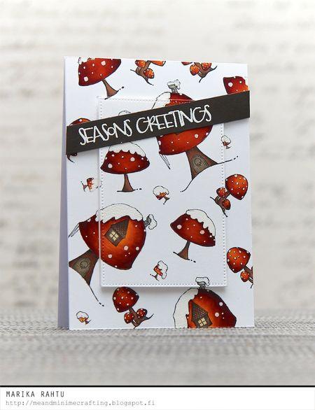 Marika Rahtu - Toadstool Seasons Greetings Card