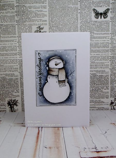 Debra James - Snowman Pete Card