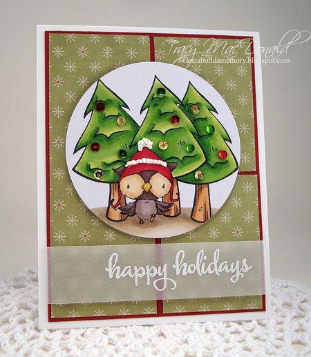 Tracy MacDonald - Snowy Hapy Holidays Card
