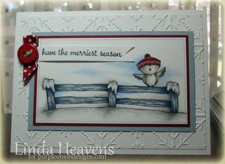 Linda Heavens - Mary on Snowy fence