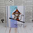 Debra James - Midnight Broomstick Card