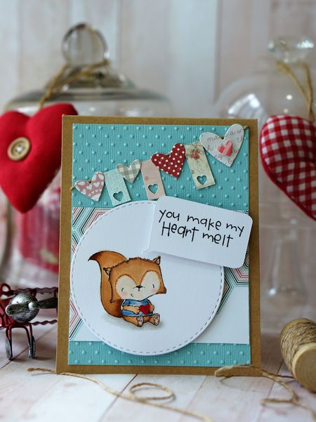 Sally On - Oscar Melt My Heart Card