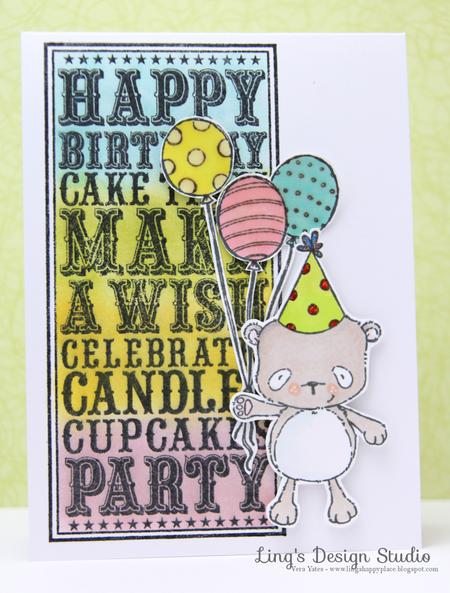 Vera Yates - Happy Birthday Noteblock Card