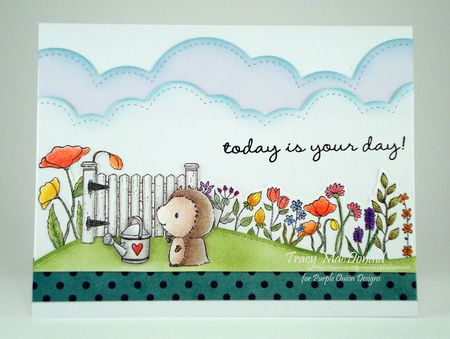 Tracy MacDonald - Milly Garden Blooms Card