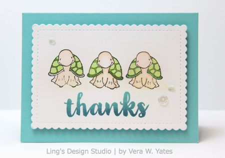 Vera Yates - Petal Thanks Card
