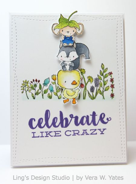 Vera Yates - Elliot Chip and True Celebrate Like Crazy Card