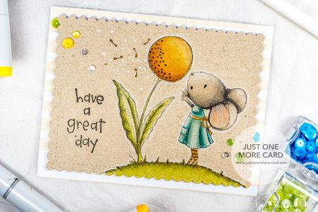Copic Coloring on Kraft - Mouse from Purple Onion Designs-1