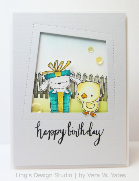 Vera Yates - Elm and Blue Birthday Card