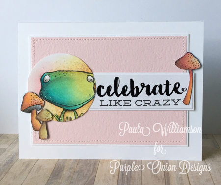 Paula Williamson - Freckles Celebrate Like Crazy card