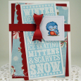 Tracy MacDonald - Winter Noteblock Star and Sky Card