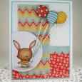 Tracy MacDonald - Willa and Balloons Card