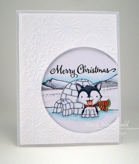 Tracy MacDonald - Blizzard and Igloo Merry Christmas Card