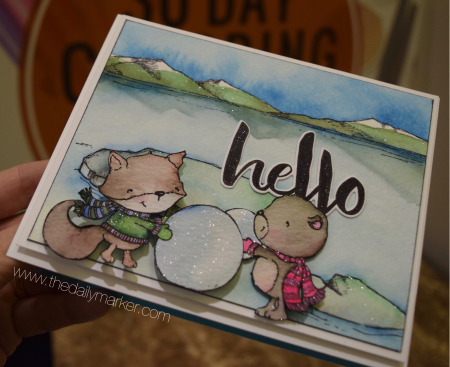 Kathy Racoosin - Rupert and Wilson Hello Card