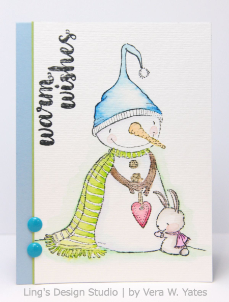 Vera Yates - Warm Hearted Warm Wishes Card