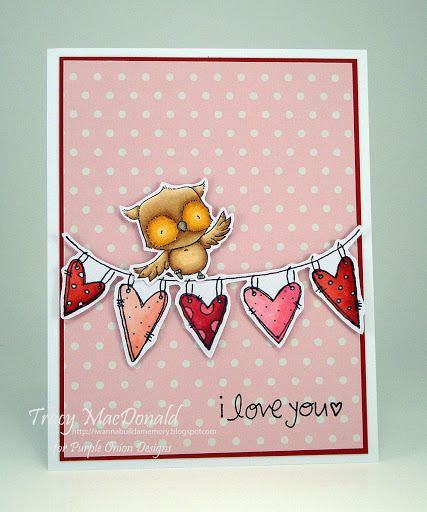 Tracy MacDonald - Lilly and Hearts on a String Card