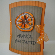 Donna Mikasa - Orange You Sweet Card